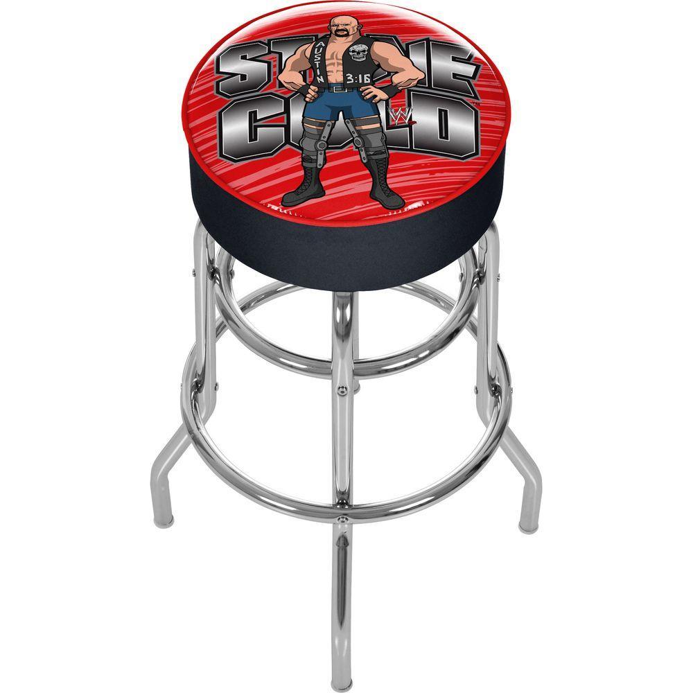 Trademark WWE Kids Stone Cold Steve Austin Padded Bar Stool