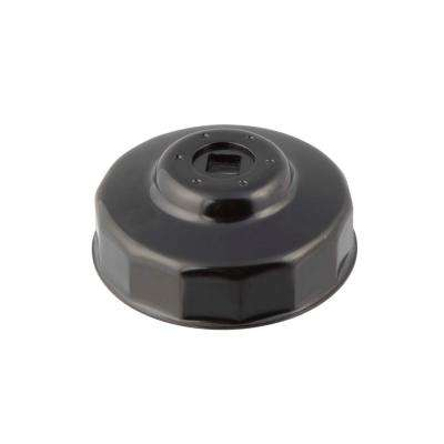 74/74 mm x 14 Flute Oil Filter Cap Wrench in Black