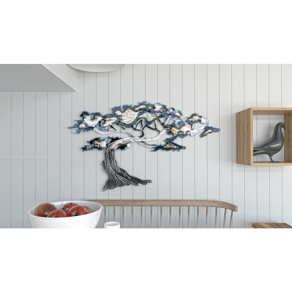 Silver Tree Metal Wall Art