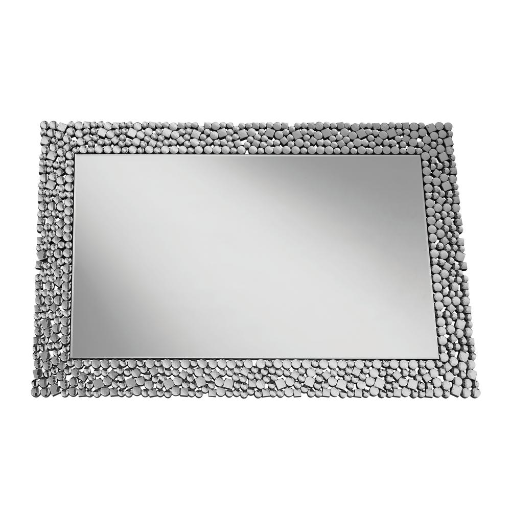 Jessebel Rectangular Silver Decorative Mirror