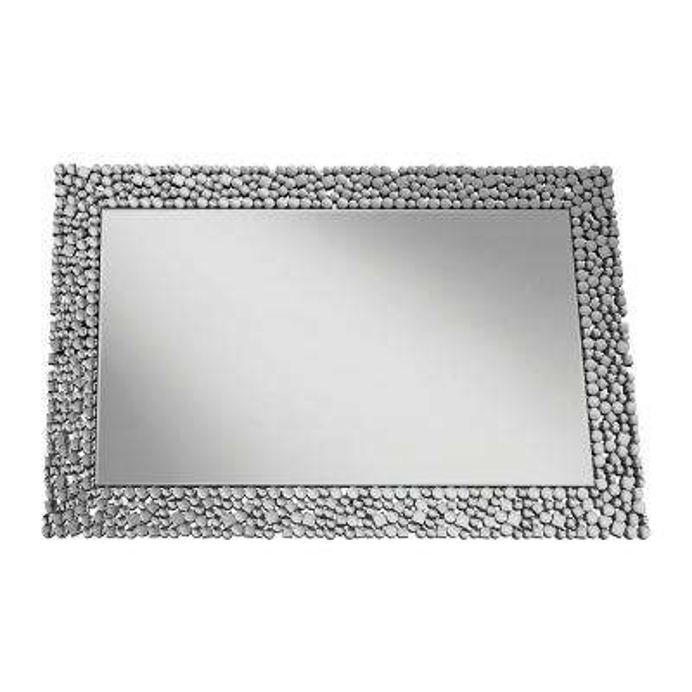 Jessebel Rectangular Silver Decorative Mirror
