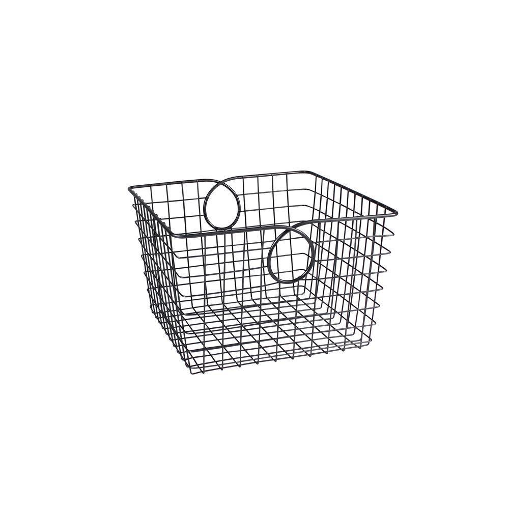 Teardrop 12.125 in. W x 13.125 in. D x 8 in. H Large Basket in Cool Gray
