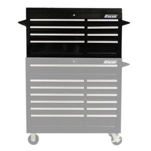 Excel In W X In D X In H Drawer Steel Top - Black gloss chest of drawers