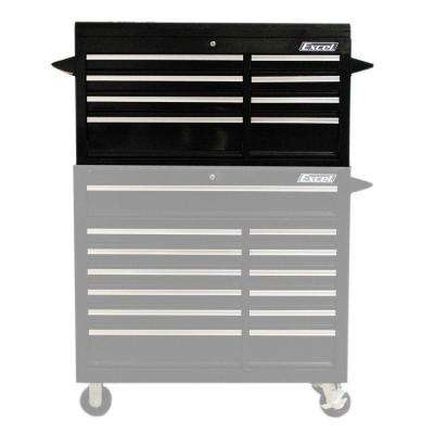 41.4 in. W x 17.5 in. D x 21.7 in. H 8-Drawer Steel Top Chest, Black