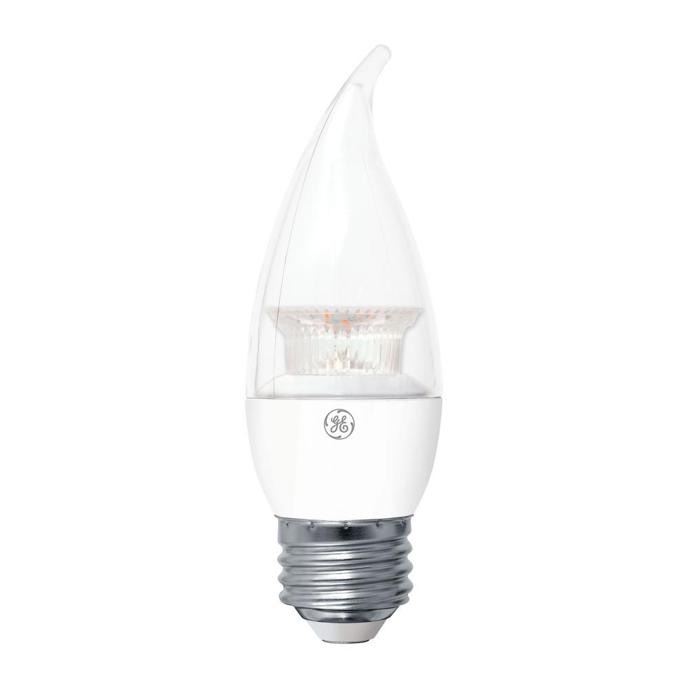 GE 60W Equivalent Soft White (2700K) High Definition CA10 Bent Tip Clear Medium Base Dimmable LED Light Bulb (2-Pack)-LED7DCAM-CSW9HT2 - The Home Depot  sc 1 st  The Home Depot & GE 60W Equivalent Soft White (2700K) High Definition CA10 Bent Tip ... azcodes.com