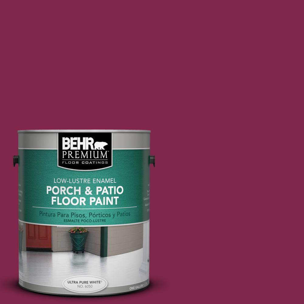 BEHR Premium 1 gal  #PFC-04 Tile Red Low-Lustre Enamel