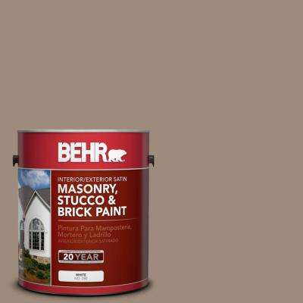 1 gal. #BXC-49 Smokey Tan Satin Interior/Exterior Masonry, Stucco and Brick Paint