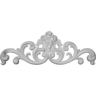 2-1/8 in. x 35-1/8 in. x 12-1/2 in. Polyurethane Flower Basket Center Onlay Moulding