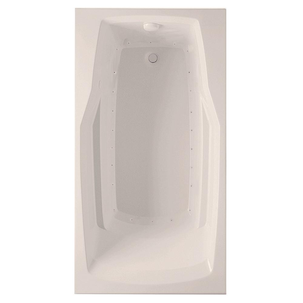 Derby 5 ft. Air Bath Tub with Universal Drain in Biscuit