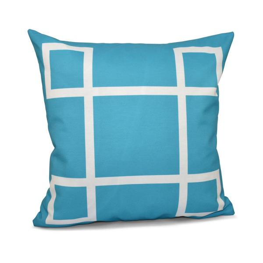 16 in. x 16 in. Criss Cross Geometric Print Pillow in