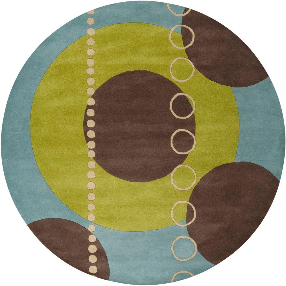 Michael Sky Blue 6 ft. Round Area Rug