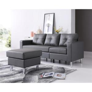 Gray Small Space Convertible Sectional Sofa 73030-40GY - The ...