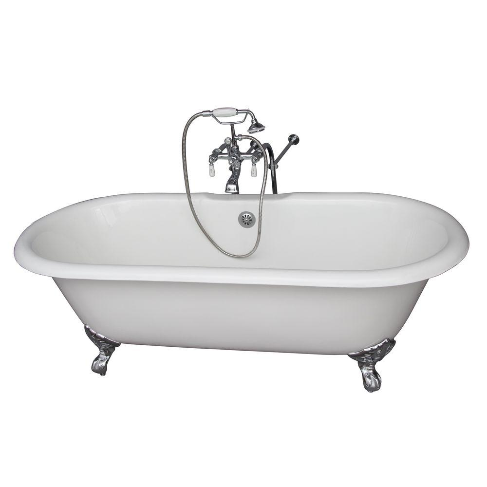Barclay Products 5 6 Ft Cast Iron Imperial Feet Double Roll Top Tub