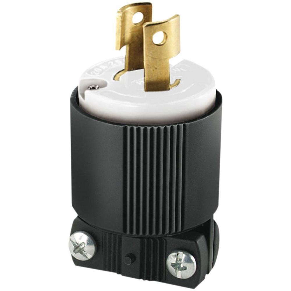 Eaton 20 Amp 250-Volt L2-20 Safety Grip Plug, Black and White ...