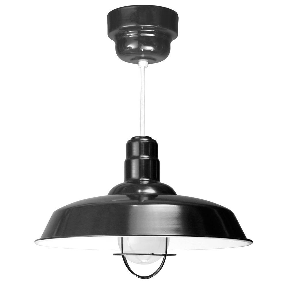 1-Light Ceiling Black Pendant