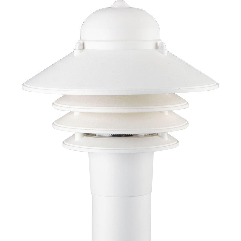 Progress Lighting Newport Collection 1-Light Outdoor White Post Lantern