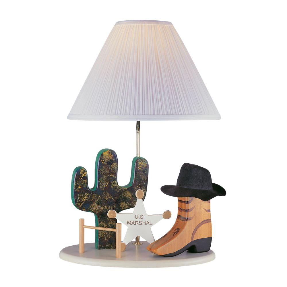 Illumine 21.5 in. Beige Cowboy Novelty Lamp