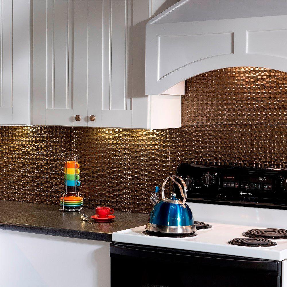 24 in. x 18 in. Terrain PVC Decorative Tile Backsplash in