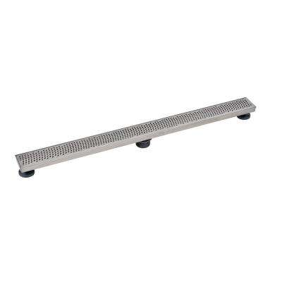 Designline 40 in. Stainless Steel Linear Drain Wave Grate