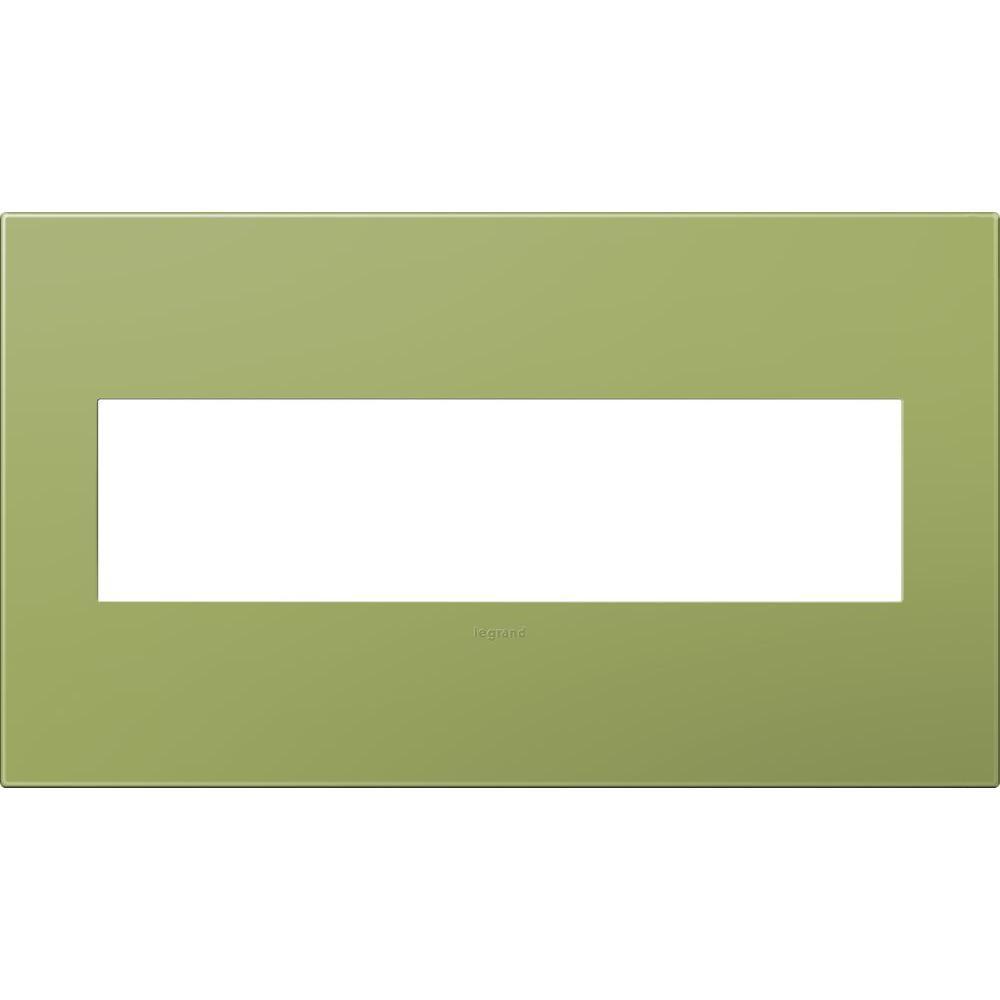 Legrand adorne 4-Gang 4 Module Wall Plate - Lichen Green