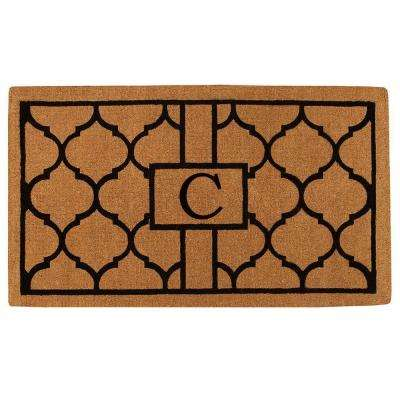 Pantera Extra-Thick 24 in. x 36 in. Monogram C Door Mat
