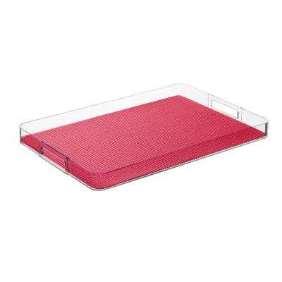 Fishnet Pink Yarrow Rectangular Serving Tray
