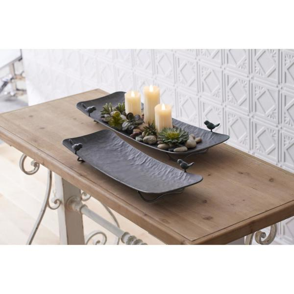 Tray with Bird (Set of 2)