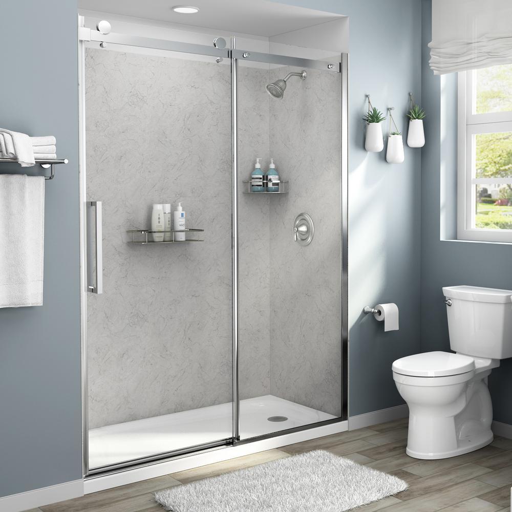 American Standard Passage 60 In X 72 In 4 Piece Glue Up Shower