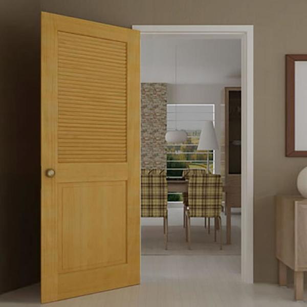 Classic Louver//Panel Passage Door Unfinished 18 x 80 x 1.375