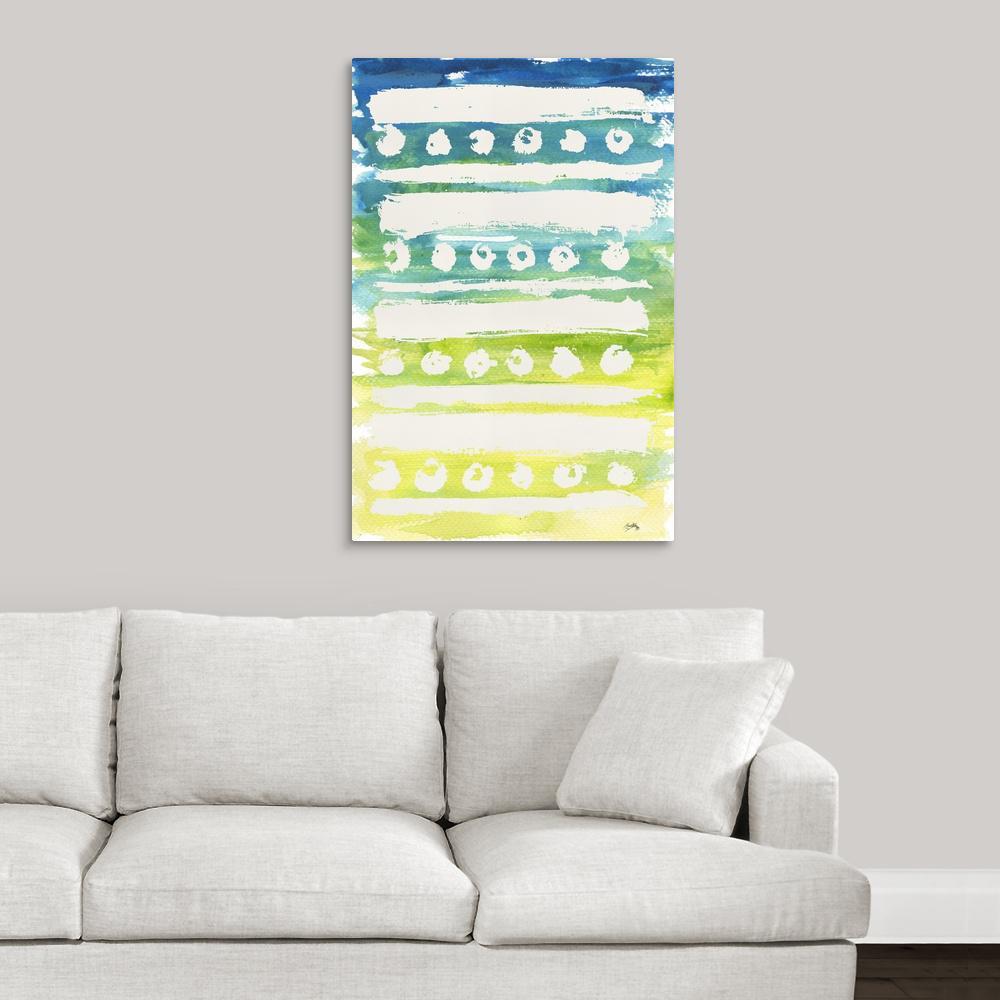 """Watercolor Pattern IV"" by  Elizabeth Medley Canvas Wall Art"