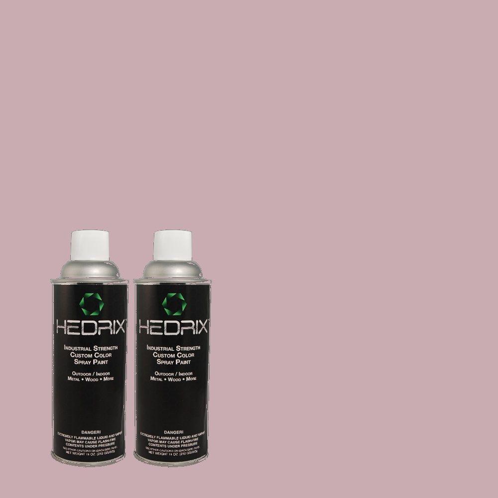Hedrix 11 oz. Match of 680F-4 Soft Heather Gloss Custom Spray Paint (2-Pack)