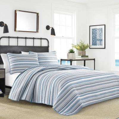 Jettison Grey 3-Piece King Quilt Set