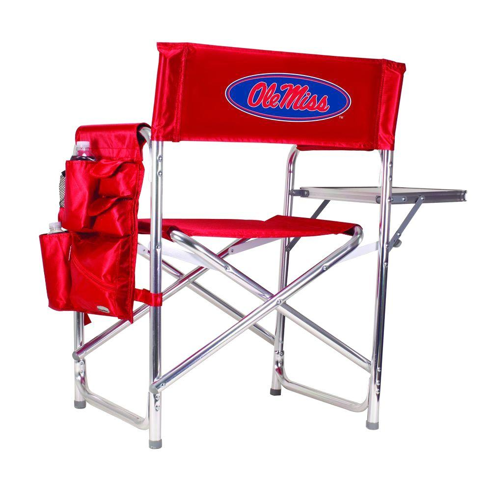 University of Mississippi Red Sports Chair with Digital Logo