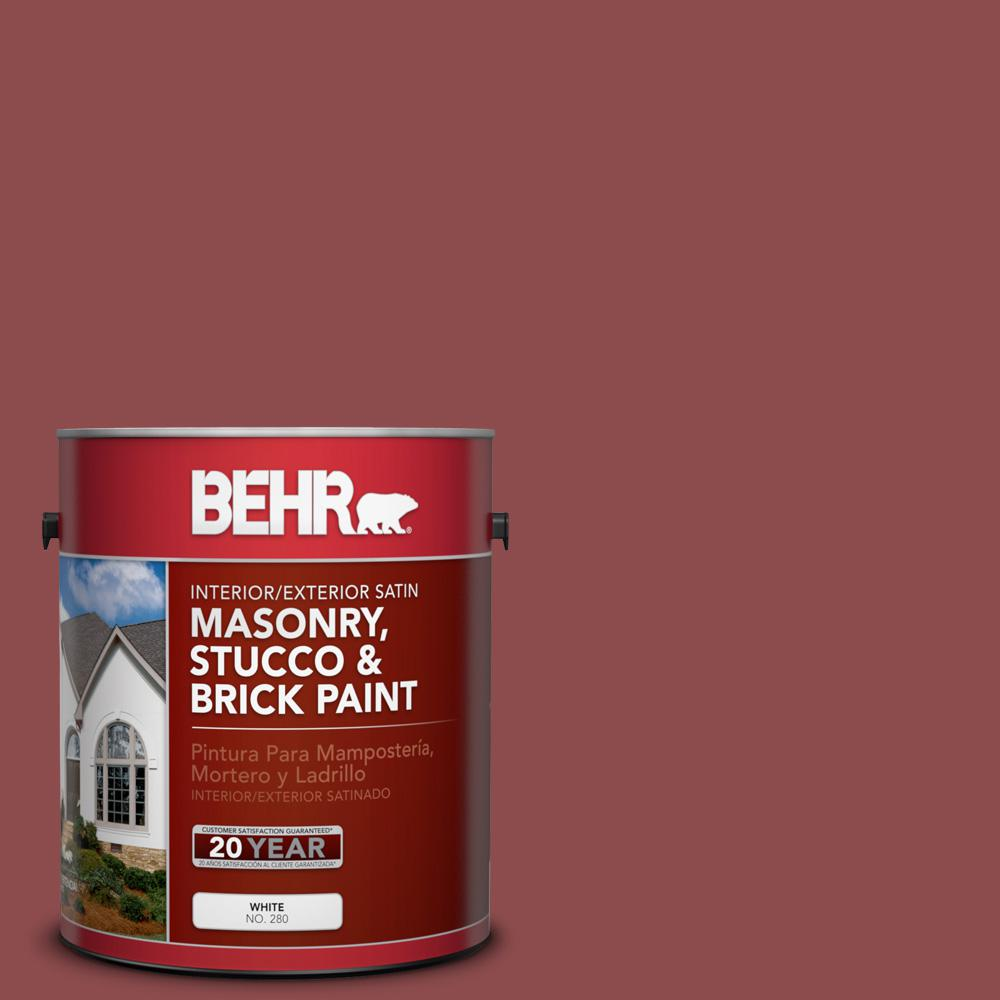 s140 6 moroccan ruby satin interiorexterior masonry stucco and brick paint 28201 the home depot - Moroccan Red Paint