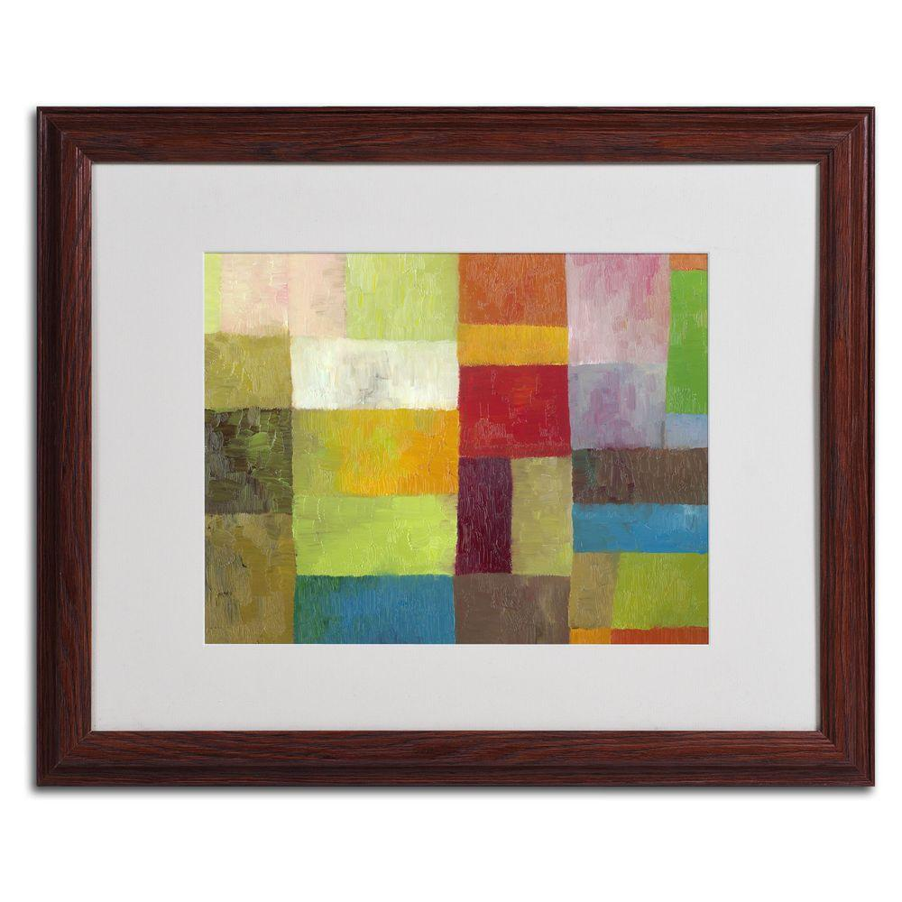 Trademark Fine Art 16 in. x 20 in. Abstract Color Panels 4 Matted Framed Wall Art