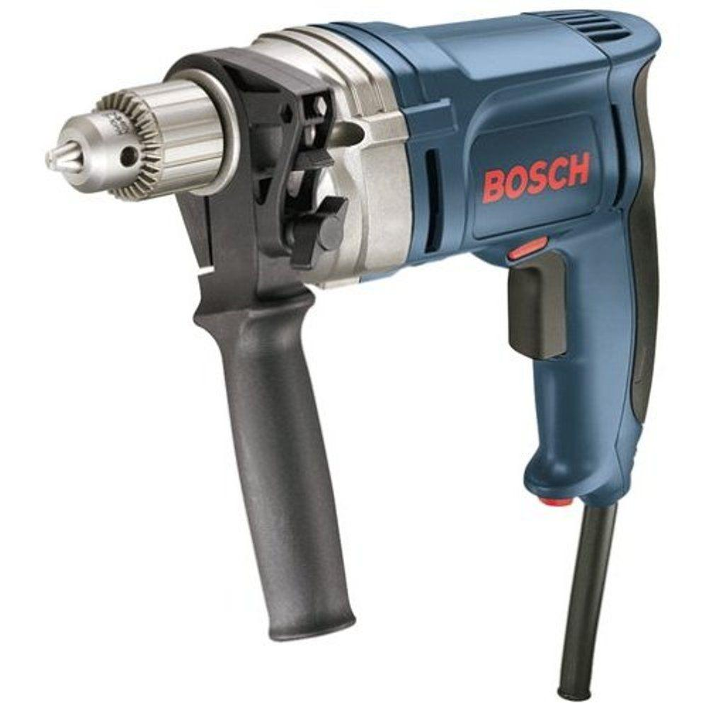 Bosch 7.5 Amp Corded 3/8 in. High Speed Variable Speed Drill/Driver with Auxiliary Handle and Chuck Key