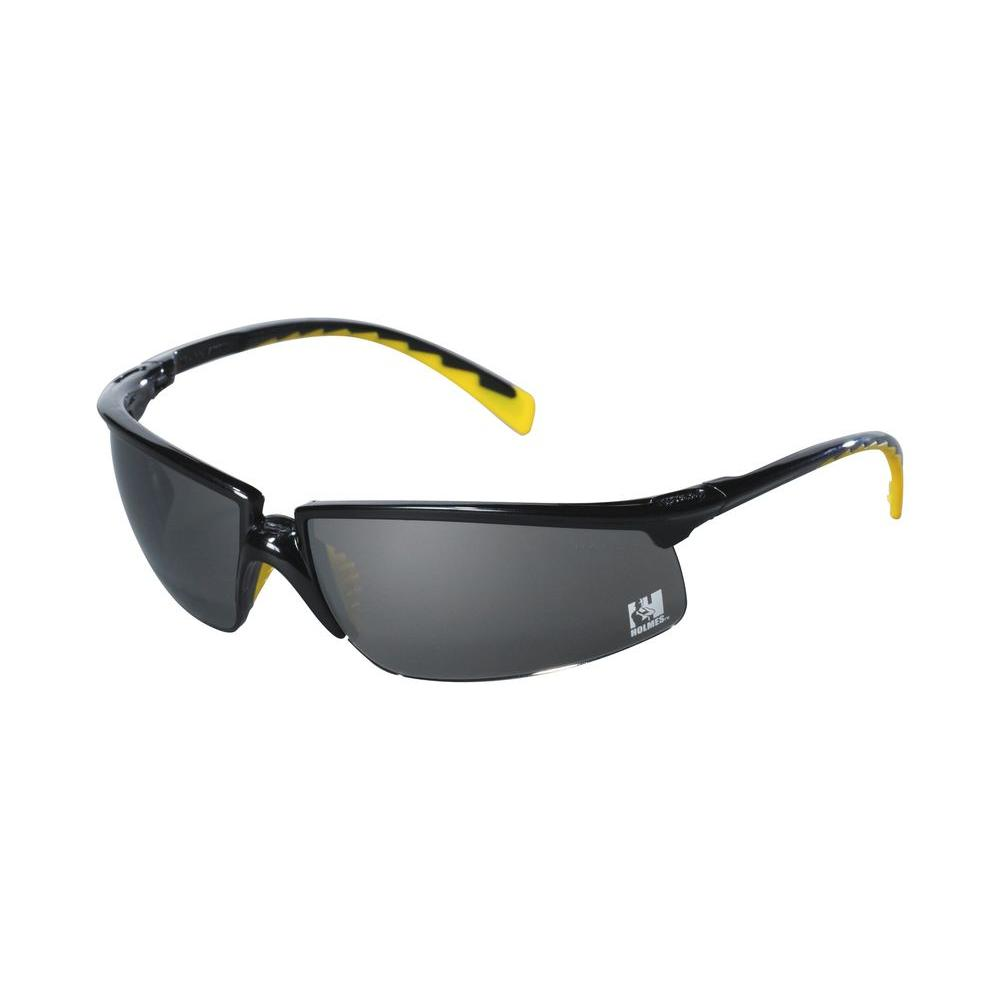3M Holmes Workwear Black Frame with Gray Lenses Safety Glasses