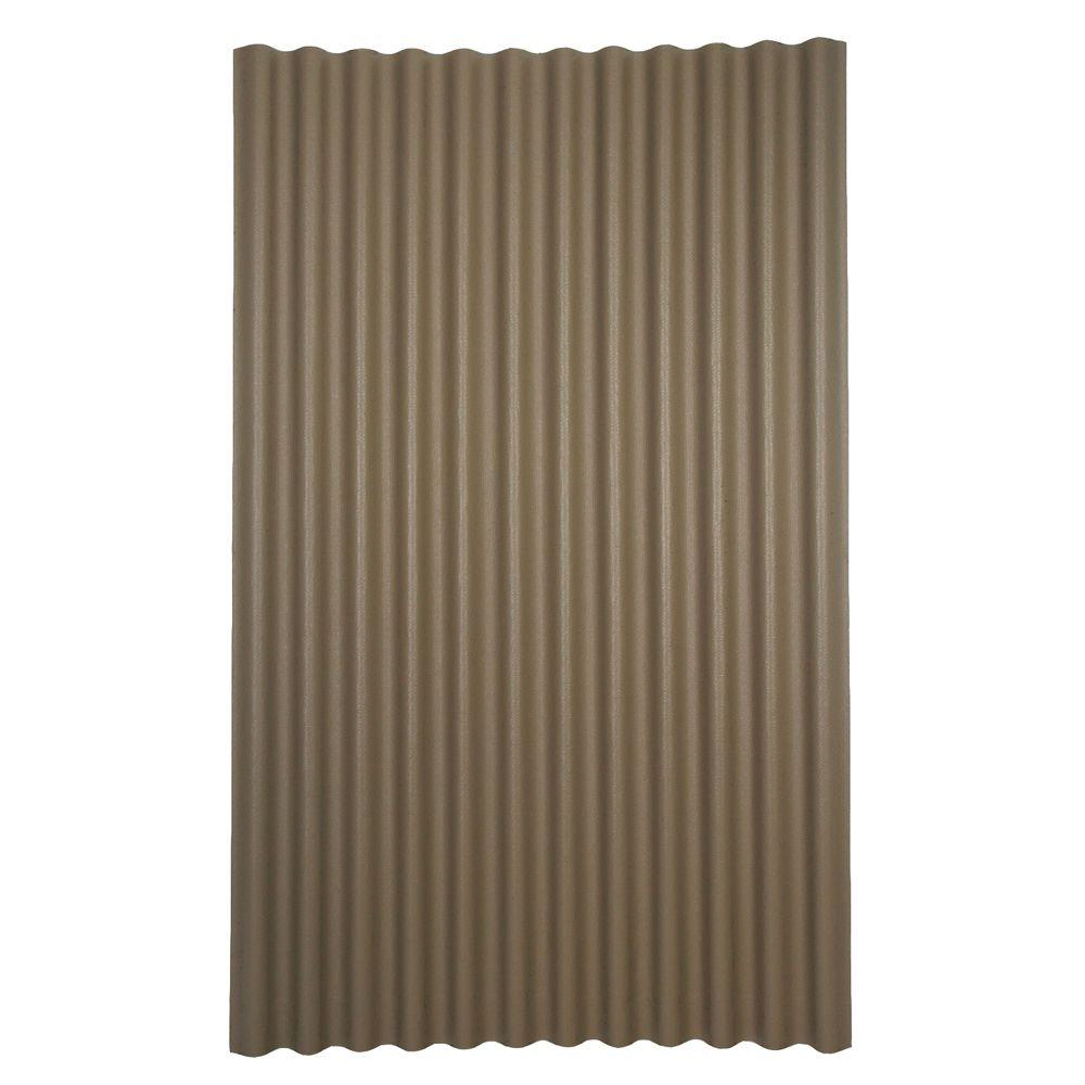 dura 6 ft 7 in x 4 ft Asphalt Corrugated Roof Panel