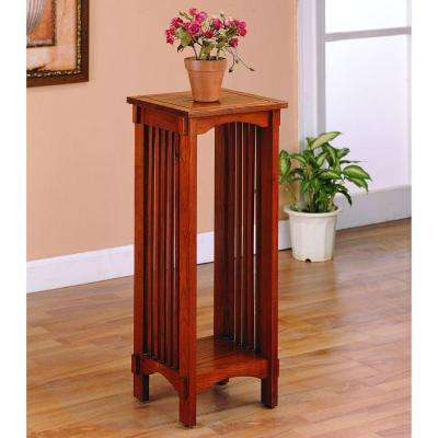 Bridgeport Warm Brown Finish Indoor Plant Stand