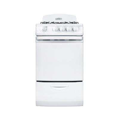 20 in. 2.4 cu. ft. Gas Range in White