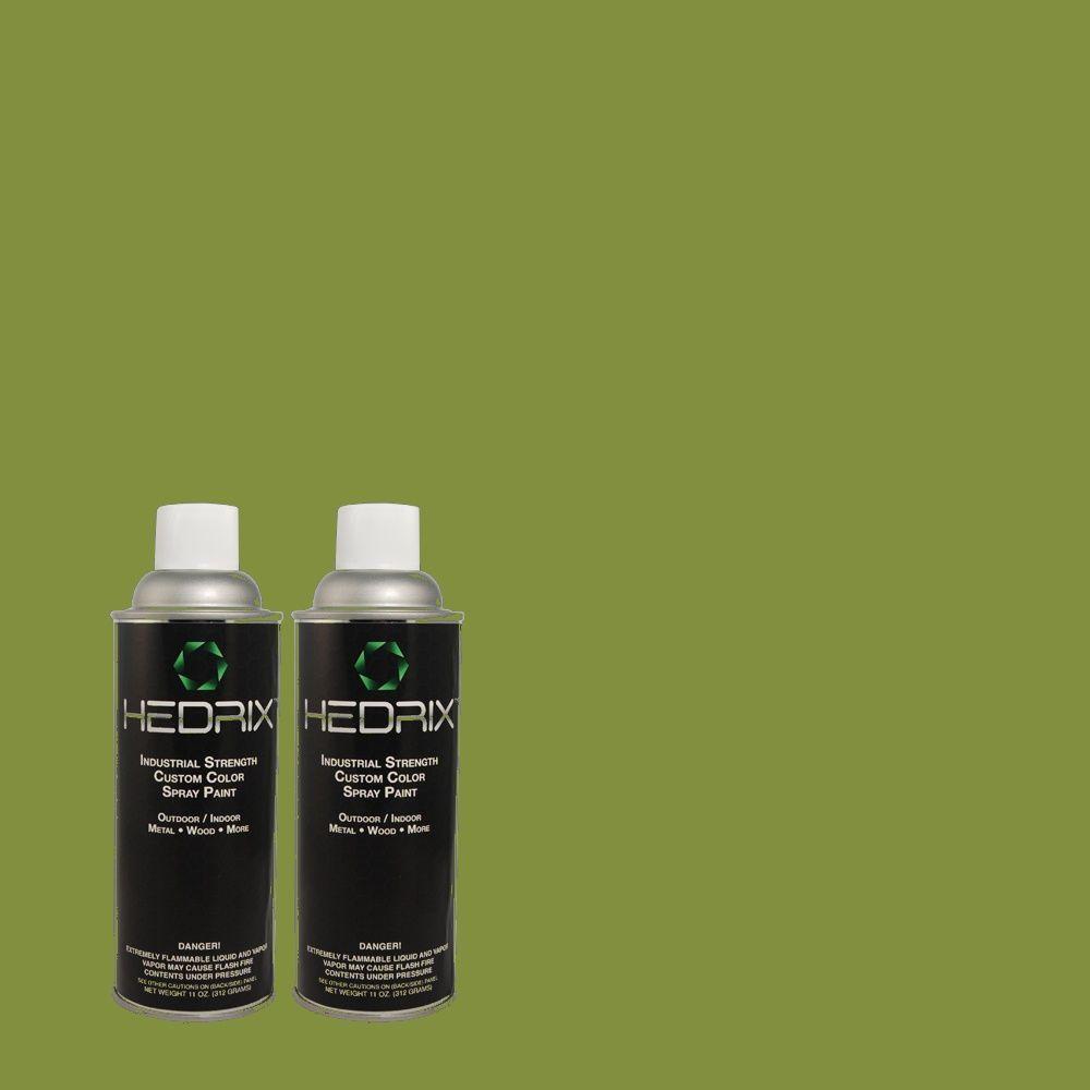 Hedrix 11 oz. Match of MQ4-44 Green Dynasty Semi-Gloss Custom Spray Paint (2-Pack)
