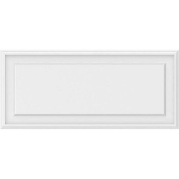 Ekena Millwork 5/8 in. x 3 ft. x 1-1/3 ft. Legacy Raised Panel White PVC Decorative Wall Panel