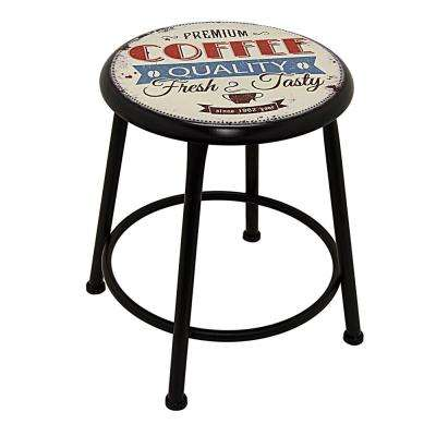 14 in. x 14 in. Multi-Colored Metal Accent Table