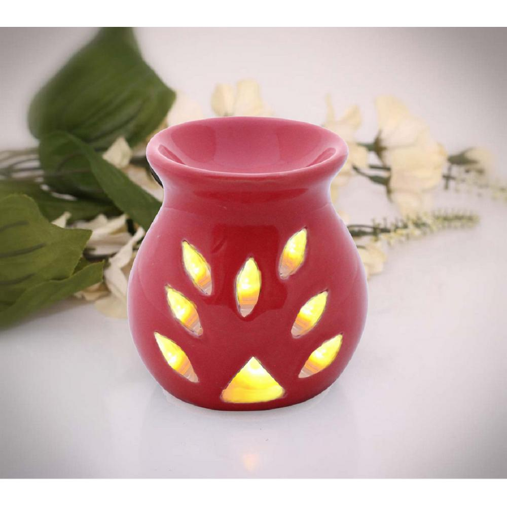 Contemporary Handmade Red Oil Diffuser Or Aromatherapy Wax Melt Warmer In