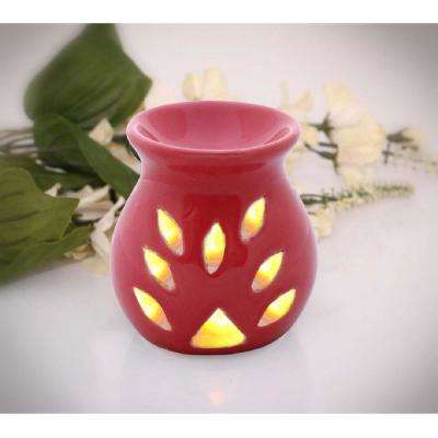 Contemporary Handmade Red Oil Diffuser Or Aromatherapy Wax Melt Warmer In Ceramic