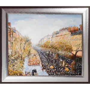 overstockArt Geo Horizon 23 by Lisa Carney Framed Hand Painted Oil Reproduction 2L83C1733524X24H-FR-530324X24