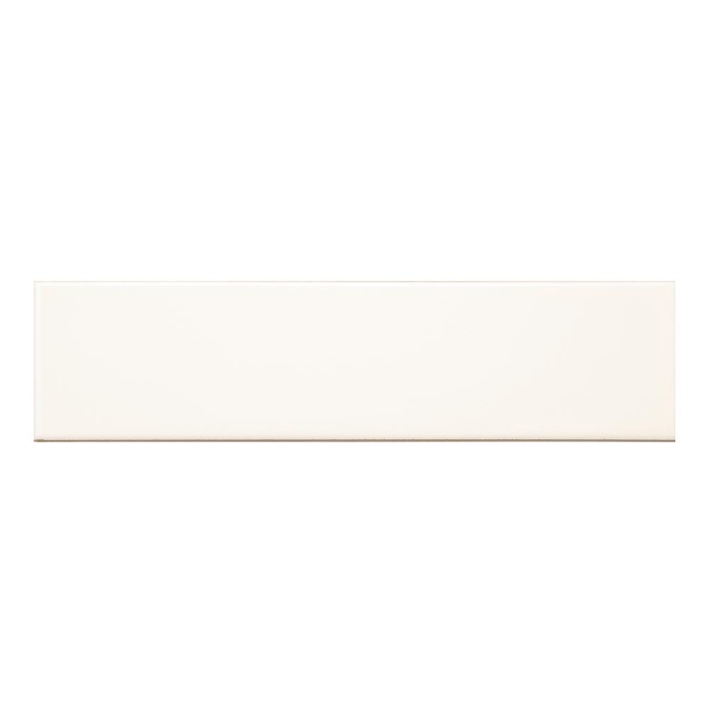 Royal Cream Flat 3 in. x 12 in. Ceramic Wall Tile