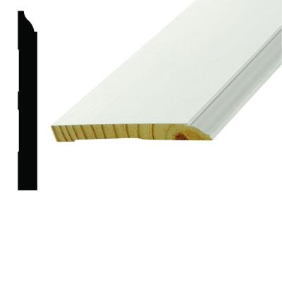 WM 618 9/16 in. x 5.1/4 in. x 96 in. Wood Primed Finger-Jointed Base Moulding