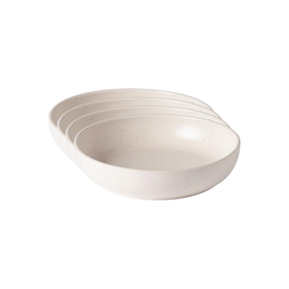 Pacifica 33 fl. oz. Ivory Vanilla Stoneware Pasta Bowl (Set of 4)