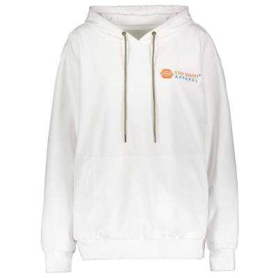 Large/X-Large White Heated Hoodie with Rechargeable Battery